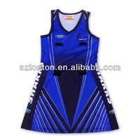 custom sublimation korean netball dresses new fashion 2013