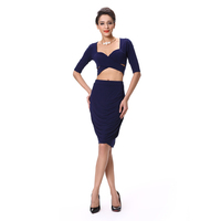 Women office skirt suit Women crop top sweat suit Lady two piece suit