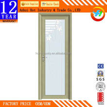 Commercial Place Bathroom Aluminum Frame Glass Material Door Hot Sale Good Quality Reasonable Price Aluminum Door