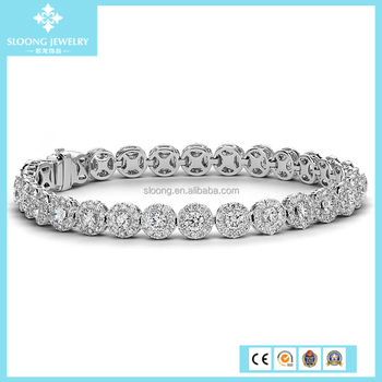 Hot Sell European Style 925 Sterling Silver Bracelet, Crystal 925 silver bracelet