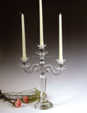 wholesale 3 arms crystal candle holder for wedding table centerpiece MH-ZT0027