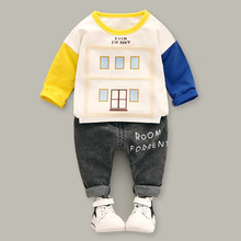 Custom design hot sale casual kids autumn boys clothing sets
