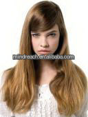 "Best quality 20"" natural straight 100% Mongolian Hair Jewish Wig, accept escrow"
