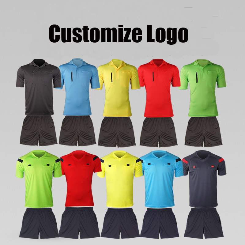 New design soccer referee uniform wholesale custom football referee jersey