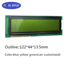 large module big size cob dot matrix graphic Y-G / Blue / Grey color 1602 16x2 lcd display panel