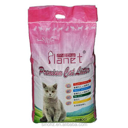 10KG PPBag Water Caking Immediate Odor Control Scentless Edible Tidy Cats Absorpt Mineral Bentonite Cat Litter for Multiple Cats