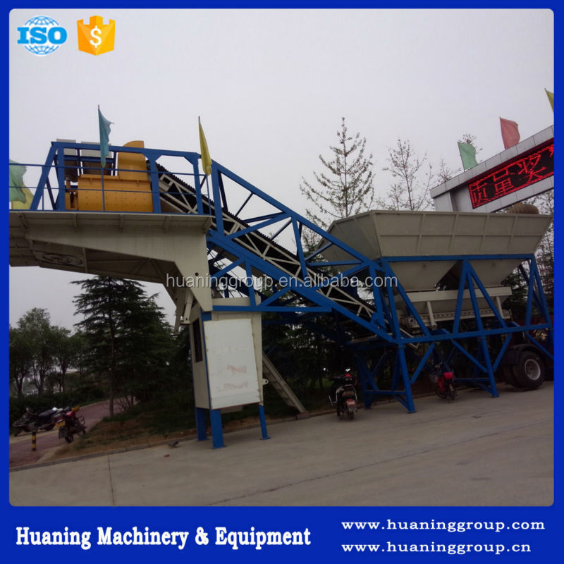 YHZS50 Mobile Precast Concrete Batching Plant with Full Automatic Control System