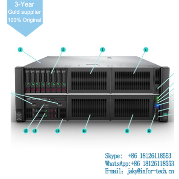 869845-B21 ProLiant DL580 Gen10 8164 4P 256GB-R P408i-p 8SFF 4x1600W PS Perf Server FOR HP Server