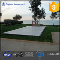 Portable PE Synthetic Ice Rink Panel/pe material ice skating rinks/HDPE fence for ICE Rink
