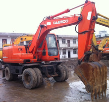 Used Doosan/Daewoo Wheel Excavator DH130W, Used Doosan 130 Wheel Excavators For Sale