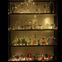 Fashion design indoor decoration low power consume bulk led christmas firefly lights warm white led fairy lights