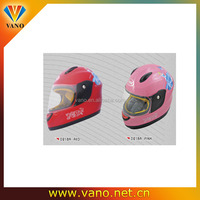 Cute red D218A safety full face motorcycle helmet