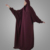 Burgundy jilbab maroon khimar Long hijab dress islamic clothing telekung hijab prayer women prayer clothing