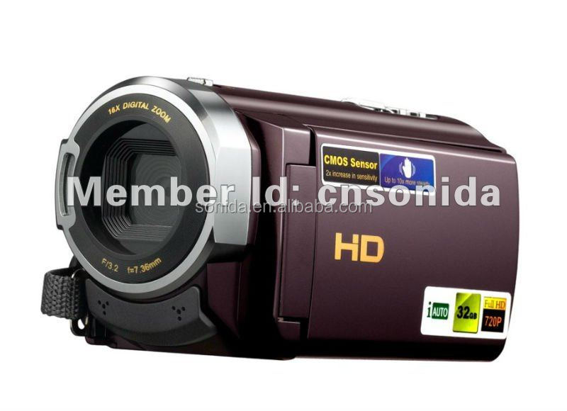 HDV-501PT 1080P High definition support 32 GB external memory 1080P full HD camcorder digital