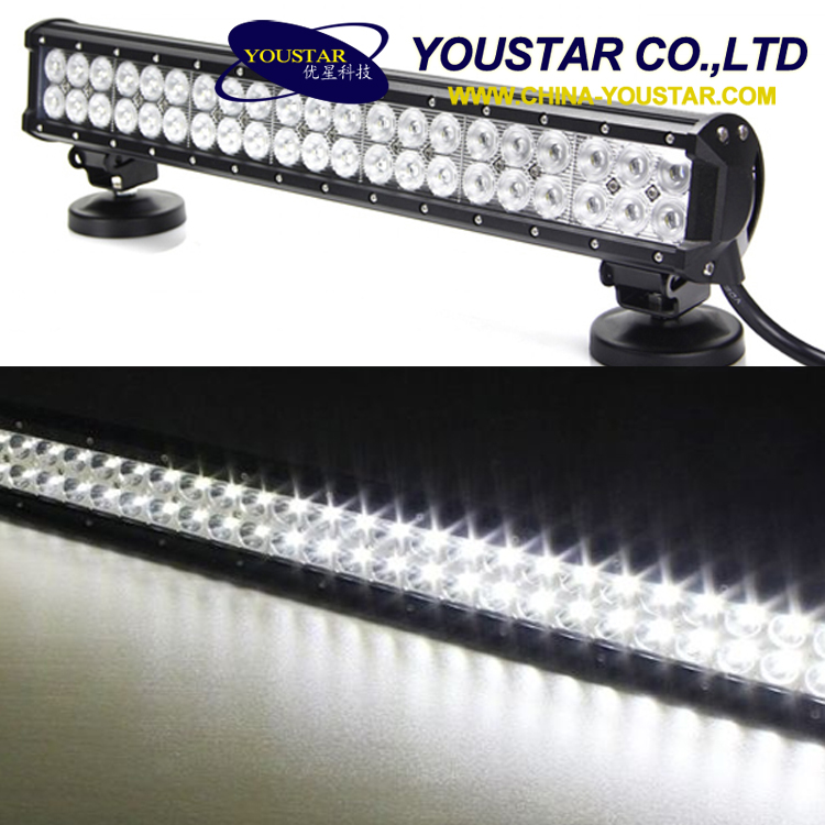 News 126w 12v -32v led driving light bar off road for cars lighting
