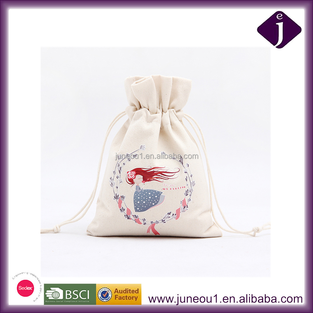 Christmas Themed Series Decorative Drawstring Bags Durable Canvas Storage Bags