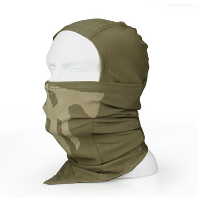 Tactical airsoft warmer scarf combat military Balaclava hood army ghost full face mask soft CS war game outdoor veil CL29-0014CP