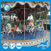 Christmas park LED decorated amusement kids small fiberglass carousel horses for sale