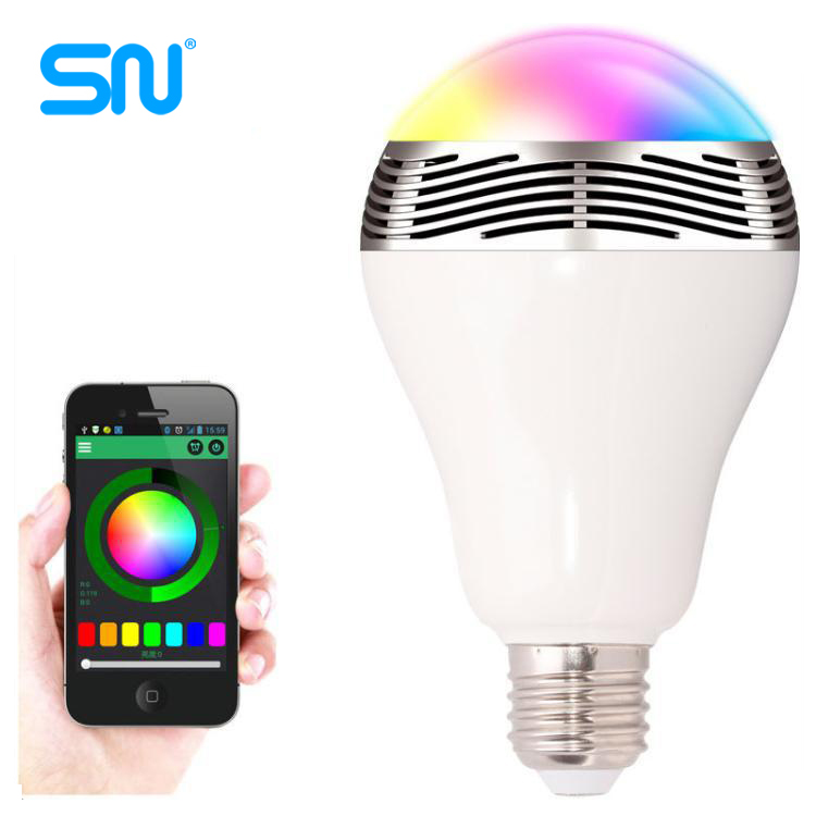 2016 hot sale music group 3w Bluetooth speaker led <strong>bulb</strong> with Smart phone APP controlled