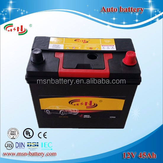 Car battery JIS 46B24 MF lead acid dry charged car battery