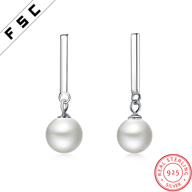 Wholesale Fashion Jewelry Pearl Silver Seed Bead Long Chain Earring