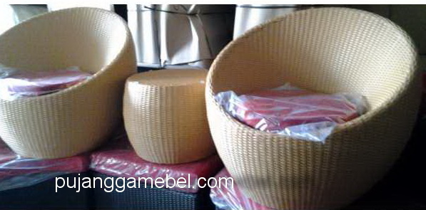 round patio chairs rattan sintetic