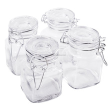 Linlang hot welcomed glass products glass spice jar with clamp lid