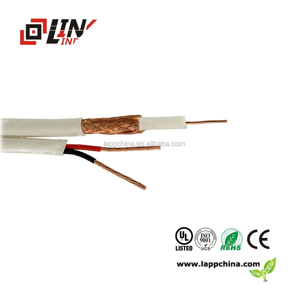 1core coaxial kabel RG59 with Power cable
