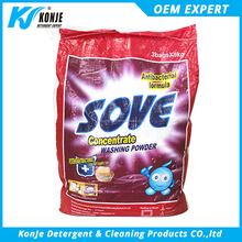 Manufacturer plastic bags package high foam bright laundry washing powder detergent