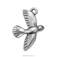 Wholesale free shipping antique silver parrot charm