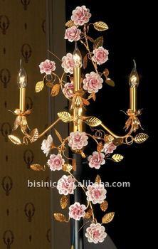 Classical flower wall lamp,home decoration wall lamp, made of copper gold plated, MOQ:1PC(B50288)