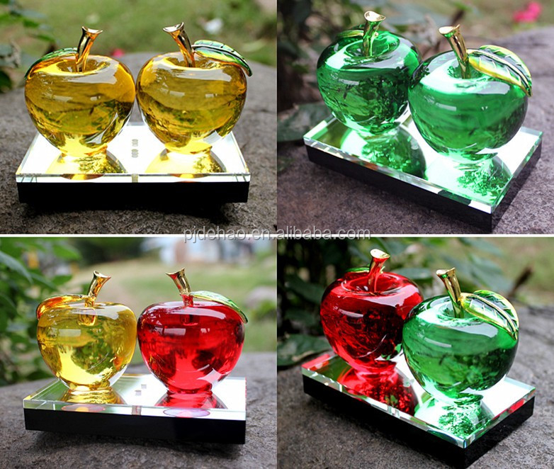 Christmas/Valentine/Wedding Gifts Lovely K9 Red Crystal Apple