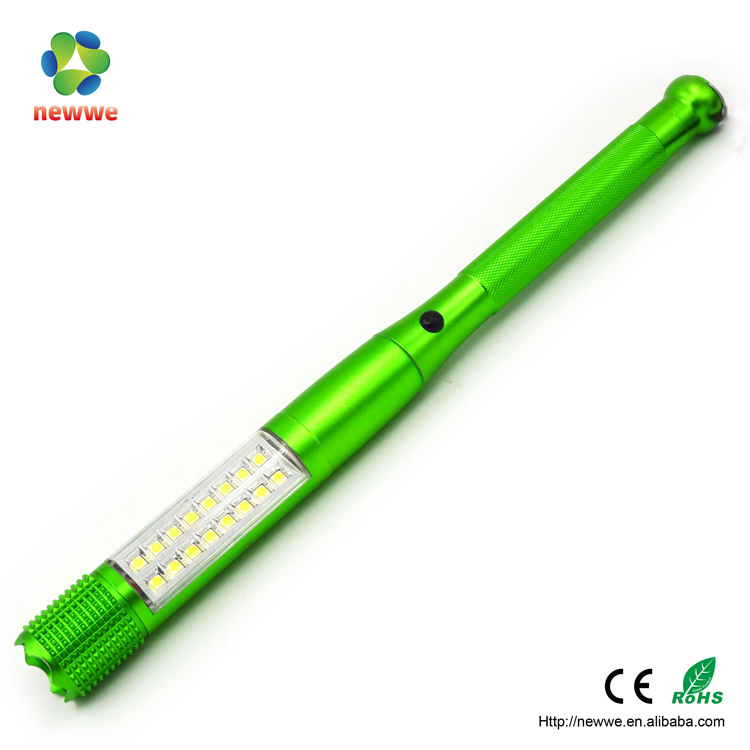 16 SMD+1W LED flashlight magnetic AL long handle police security hot new products for 2016 lamp torche steel flashlight
