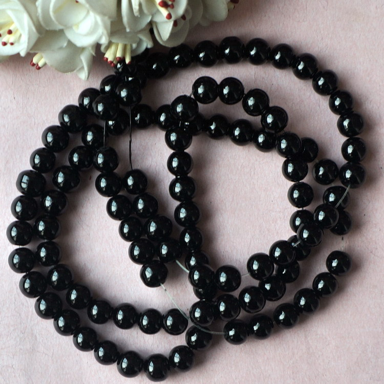 Fashion black pearl glass beads accessories