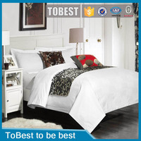 ToBest Wholesale Egyption cotton fabric jacquard bedding set / bed sheets / hotel linen