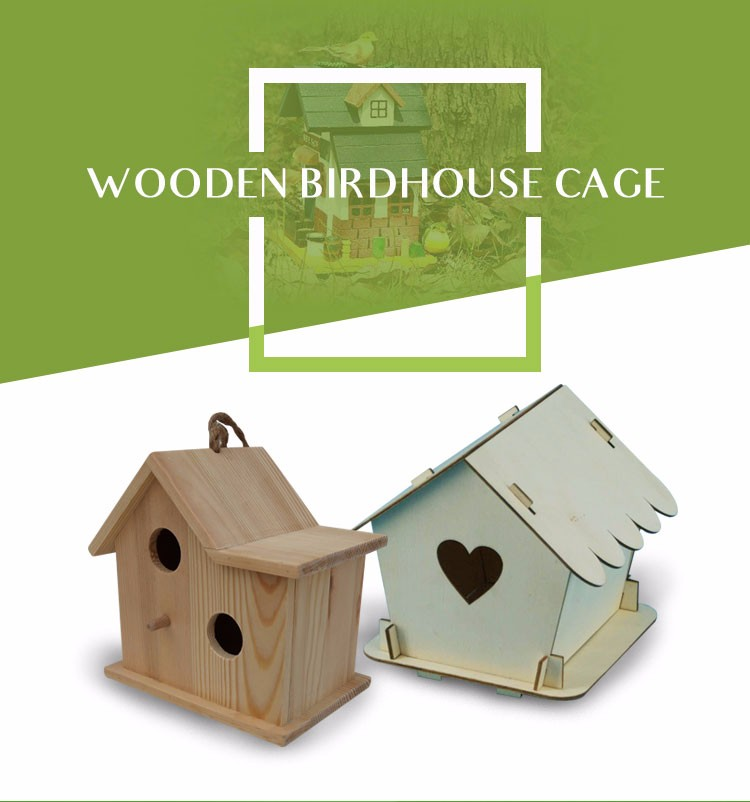Good sales natural outdoor wooden bird cage