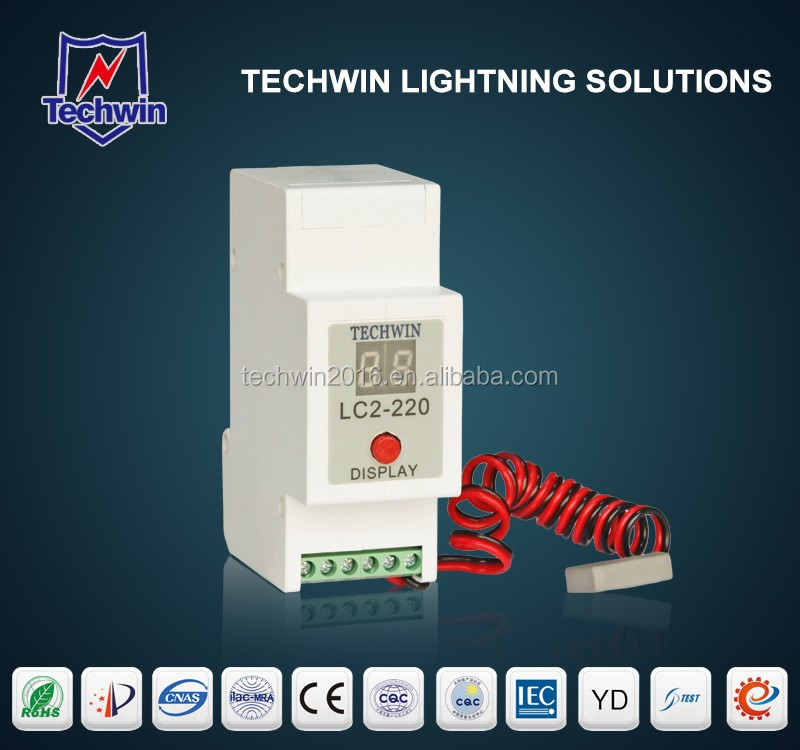 SPD Din rail mounting lightning protection counter