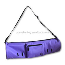 "Large Yoga Mat Bag ""Compact"" With Pockets, 28"" Long, Fit Most Mat Size, Extra Wide, Adjustable Strap, Easy Access"