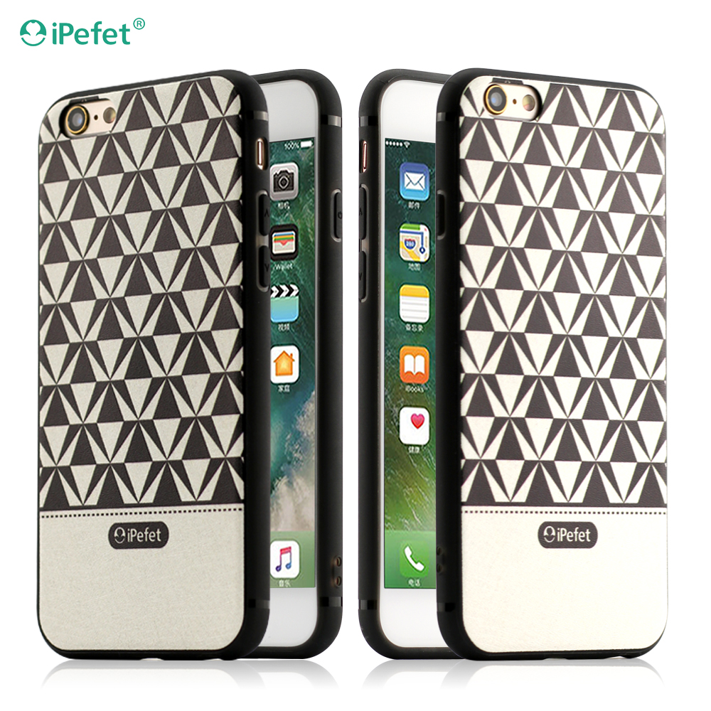For iPhone 7 Accessory Pattern Leather Skin Phone Accessories Soft TPU Cell Phone Case for iPhone 7