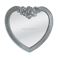 Home Decor Carving Lovely Heart Shaped Wall Mirror