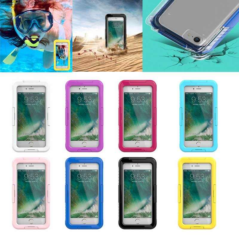 2017 New arrvial Normal Type Waterproof Silicone Case for iphone 7