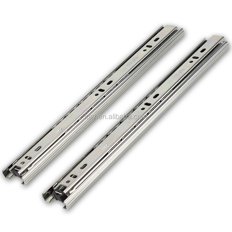 Kitchen cabinet soft close drawer slides - 37mm Three Sections Metal Drawer Side Slide Kitchen