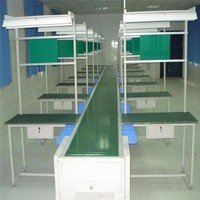 Industrial Wire 500mm Width Mobile Phone LED TV Electric Assembly Line Stainless Steel Belt Conveyor System