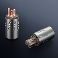 Hi-end 20MM tail hole Transparent Pure Copper US AC Power Plug hifi speaker amplifier Electrical US Power Plugs
