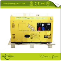10Kva silent generator set, silent and mobile type