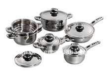 ZX-1101 wide edge 10 Piece Stainless Steel Cookware Set