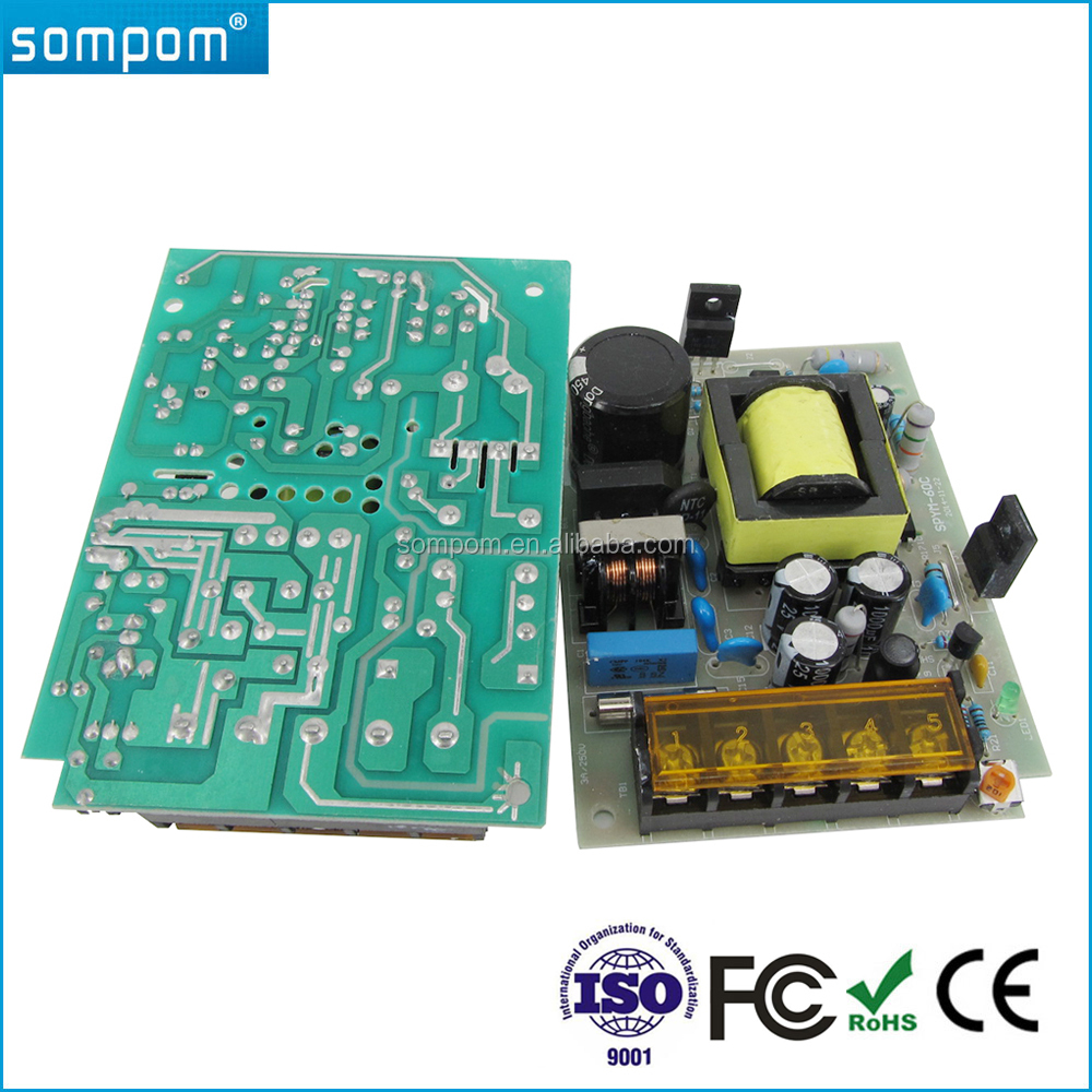 Sompom Open Frame Constant Voltage 12V 5A 60W Switching Power Supply
