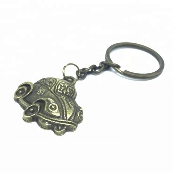 Manufacture car shape cheap custom antique bronze keychain