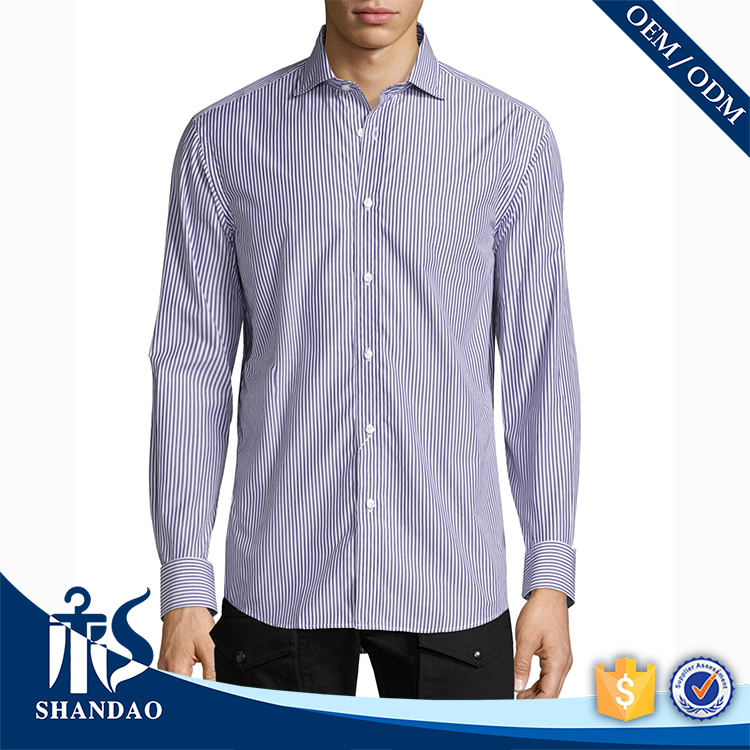 Good Quality China Guangzhou Shandao OEM Supplier Autumn Latest Design Cotton Long Sleeve Buttons Mens New Shirt Models