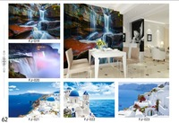 Can customized high-end scenery print Seaview mural design 3d print setting high quality wall wallpaper